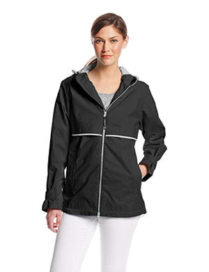 Charles River Apparel Women's New Englander Waterproof Rain Jacket, Black, M