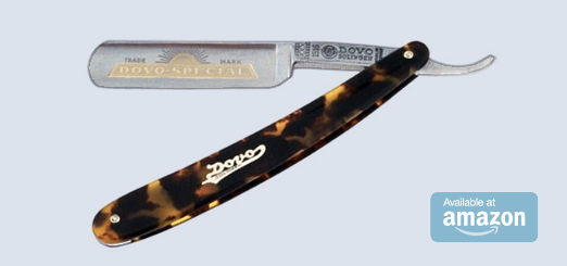 DOVO Straight Razor with Imitation Tortoiseshell Handle
